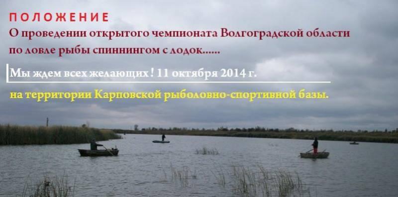 рыбалка в камышине волгоградской области